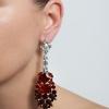 Náušnice Liza Elegance Red Crystal